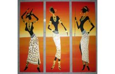 Cuadros trípticos modernos~ Africanas ~ - 6617945 - disponible en ... African Design, Outdoor Decor, Afro, Home Decor, African, Budget, Interior Design, Home Interior Design, Home Decoration