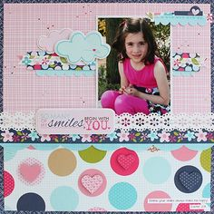 'My Smiles Begin With You', layout by Juliana Michaels