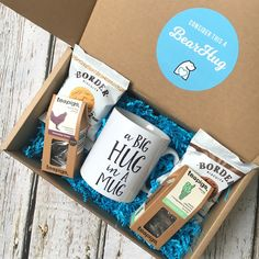 bearhugs gift box thinking of you gift for him tea mug biscuits