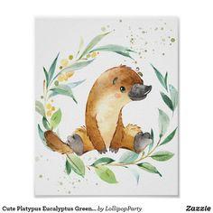 Australian Nursery, Australian Animals, Nursery Paintings, Neutral Paint, Platypus, Animal Nursery, Art Wall Kids, Custom Posters, Baby Animals