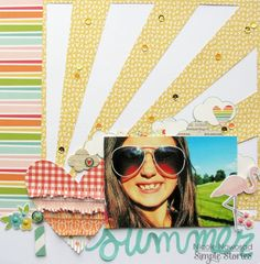 Summer layout by Nicole Nowosad for Simple Stories