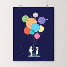 You are my universe - Art print | I Love Doodle - The visual art of Lim Heng Swee