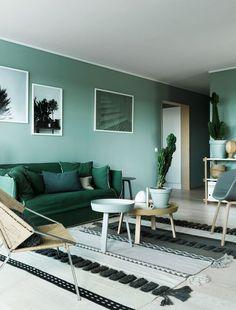 El color verde en decoración presenta la opción perfecta para dar un toque fresco y vivo a la decoración de tu hogar. ¡Aprende a usarlo!