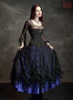 Cordelia Layered Long Bustle Skirt - Fairy Tale Romantic Wedding Skirt Handmade To Your Measurements & Colors (including plus size!) Gothic by rosemortem on Etsy https://www.etsy.com/listing/82445277/cordelia-layered-long-bustle-skirt-fairy