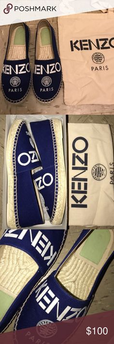 Kenzo espadrilles Worn once. Navy color :) Kenzo Shoes