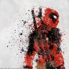 #deadpool Marvel and DC Comics SplatterArt by #BOMBATTACK