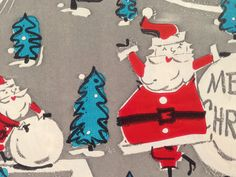 Vintage Christmas Gift Wrapping Paper by TheGOOSEandTheHOUND, $6.00