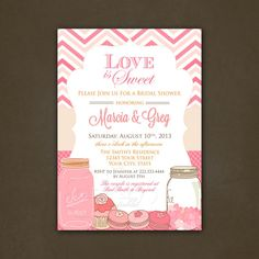 Love is Sweet Chevron Bridal Shower by PinkSkyPrintables on Etsy, $12.00