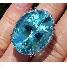 Ct Flawless Paraiba Tourmaline Diamond Platinum Estate Ring – Gorgeous Gems and Jewelry Tourmaline Jewelry, Gemstone Jewelry, Estate Rings, Bling, Rare Gems, Gems And Minerals, Jewelry Stores, Jewelry Accessories, Fine Jewelry