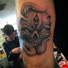 #skull #tattoo Roma Tattoo Expo 2016