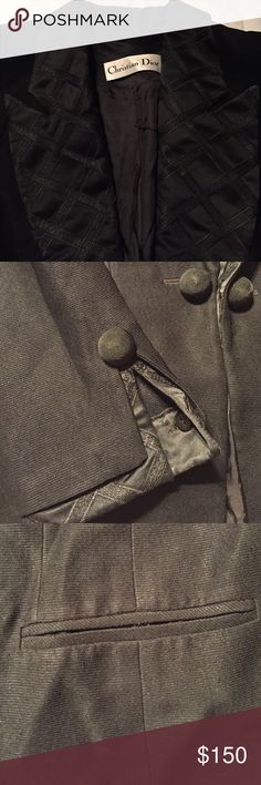 Very Unique Vintage Dior Smoking/Supper jacket Has buttons missing on left sleeve otherwise in vintage 1980's condition, no rips on inside! Not sure of size 4-6 Jackets & Coats Blazers