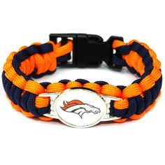 Denver Broncos Paracord Bracelet USA Football Team Logo Charm Braided Bracelet for Women Men Outdoor Bracelets Bangles Jewelry
