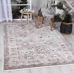 Istanbul Vintage Classic Aynur Beige Rug   Pile Height: 5mm Material: 65% Polypropylene,35% Polyester Rug Type: Indoor Easy to clean Style(s): Modern & Contemporary Pattern(s):Vintage, Modern