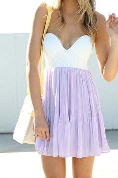 Beautiful Purple and White Dress. <3