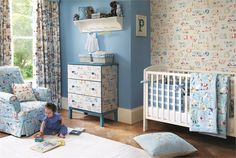 Tecidos e papel de parede Sanderson, colecção Abracazoo. À venda na Nova Decorativa! #decoração #tecidos #homedecor #fabrics #Sanderson