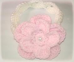 Handmade Crochet Flower Headband For Baby, only $5. Get it at www.nandjgifts.com.