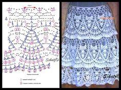 Pollera Blanca Crochet