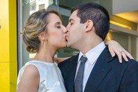 Flavia Novia Casamiento Civil Adelaida Mercado maquillaje y peinado