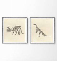 "38"" x 18"" - Kids Room Wall Art - Dinosaurs"