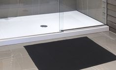 """Royal Bath Collection Luxurious Memory Foam Solid Color Large (21"""" x 34"""") Bath Mat with Anti-Slip Latex Backing (Black)"""