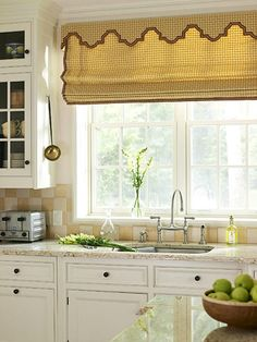 kitchen, like the backsplash and window treatments