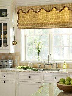 kitchen, like the backsplash and window treatments