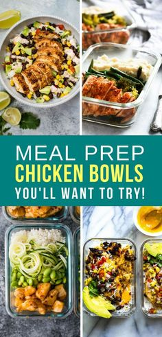 These chicken meal prep bowls make perfect make ahead lunches or dinners, you can put them together really quickly but they still taste amazing!