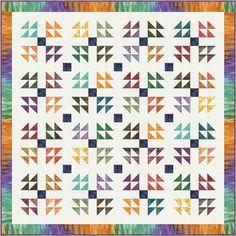Calypso quilt by Nancy Mahoney. Click on the link to download the Free pattern http://nancymahoney.com/files/Tonga-Calypso-Free-Pattern.pdf