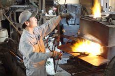 Blacksmith Moritaka-san.