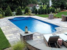 Technically it would most likely be simpler to create the pool into the floor or maybe to level it to the ground floor deck. A huge swimming pool sits at the conclusion of the backyard garden. The long, narrow swimming pools are ideal for smaller gardens.