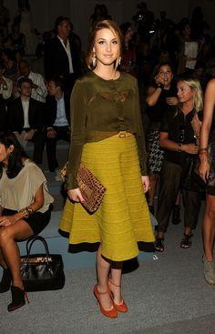 Whitney Port - love the skirt & shoes.