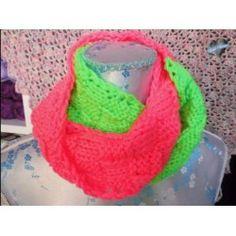 Kindercol neon groen/neon roze