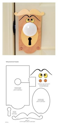 Door Knob  Template                                                                                                                                                                             Más