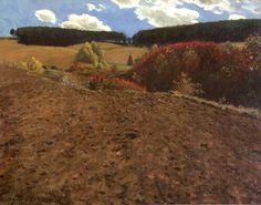 Autumn Landscape, Pál Szinyei Merse Natural World, Contemporary Artists, Illustration Art, Illustrations, Vineyard, Art Photography, Street Art, Gallery, Nature