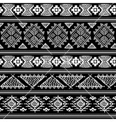 Tribal geometric vintage ethnic seamless pattern vector by transia on VectorStock® Eps Vector, Vector Free, Vector Stock, Flowers Background, Puff And Pass, Patch Design, Design Research, Tribal Patterns, Vector Pattern
