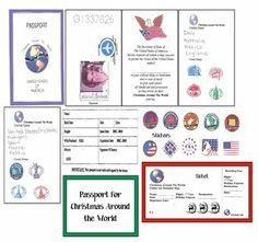 FREE passport templates designed from real ones for kiddo's to make as they travel around the world.