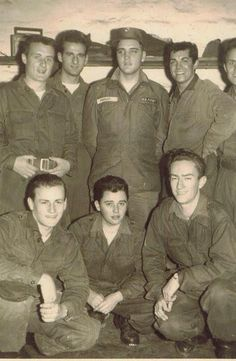 Elvis Presley with Army Friends