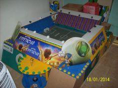 Memória do Futebol Contada na Caixinha de Fósforo: minha arena , toda feita de lixo . um orgulho em m...