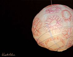#diy embroided #lamp from ikea by kreativbuehne