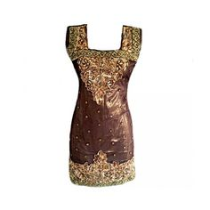 Womens Gold Sequence With Bronze Stones Short Indian by Jywal