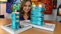 Elegantes Centros de mesa con Liston / Elegant Center piece with ribbon