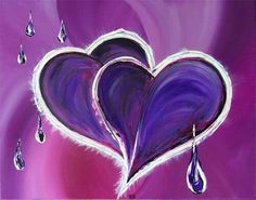 Purple Hearts, Heart Shapes, Neon Signs, Abstract, Artwork, Summary, Work Of Art, Auguste Rodin Artwork, Artworks