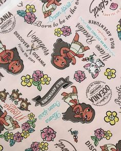BEST SELLING - Disney Moana Fabric Made in Japan from OrifromJapan on Etsy Studio