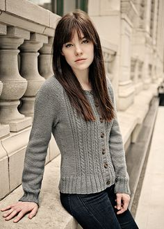 1bb6e4f7cdceb9 Easy Cable Knitting Pattern - Cabled Cardigan Pattern - Chic Knits Velynda  - Downloadable Knitting Patterns