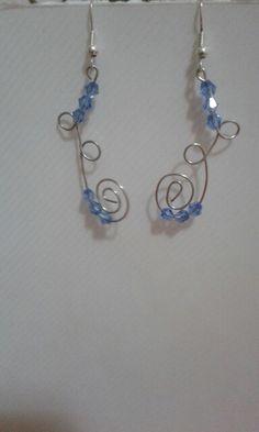 Orecchini con swarovski azzurri