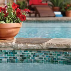 Check out this American Olean product: Photo features Peaceful Sea in 1 x 2 mosa… - Diy Pool Design