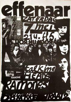CONCERT EFFENAAR TALKING HEADS & RAMONES - Geertjan Dusseljee - 1977, Eindhoven | Catawiki Online Auctions