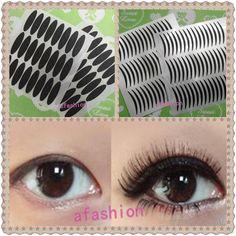 Grosso e fino Stripe fita pálpebra dupla adesivos olho delineador maquiagem maquiagens styling pálpebras alishoppbrasil