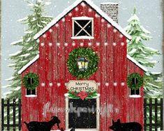 Christmas Lodge, Christmas Tree Farm, Christmas Store, Christmas Art, Christmas In The Country, Cabin Christmas Decor, Christmas Houses, Christmas Gifts, Christmas Backdrops