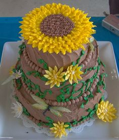 Sunflower Birthday Cake  on Cake Central